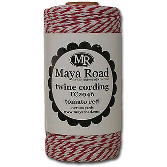 Twine Cording 100 Yards Roll Tomato Red Tc2 46