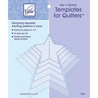 Mix'n Match Templates For Quilters 6 Pkg Star Jt400 420