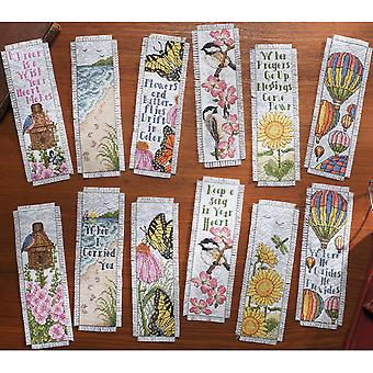 Inspired By Nature Bookmarks Counted Cross Stitch Kit 2 1 2