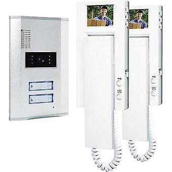 Video door intercom Corded Complete kit Smartwares VD62 SW Semi-detached Silver, White