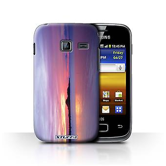 STUFF4 Case/Cover for Samsung Galaxy Y Duos/S6102/Blue Lagoon/Sunset Scenery
