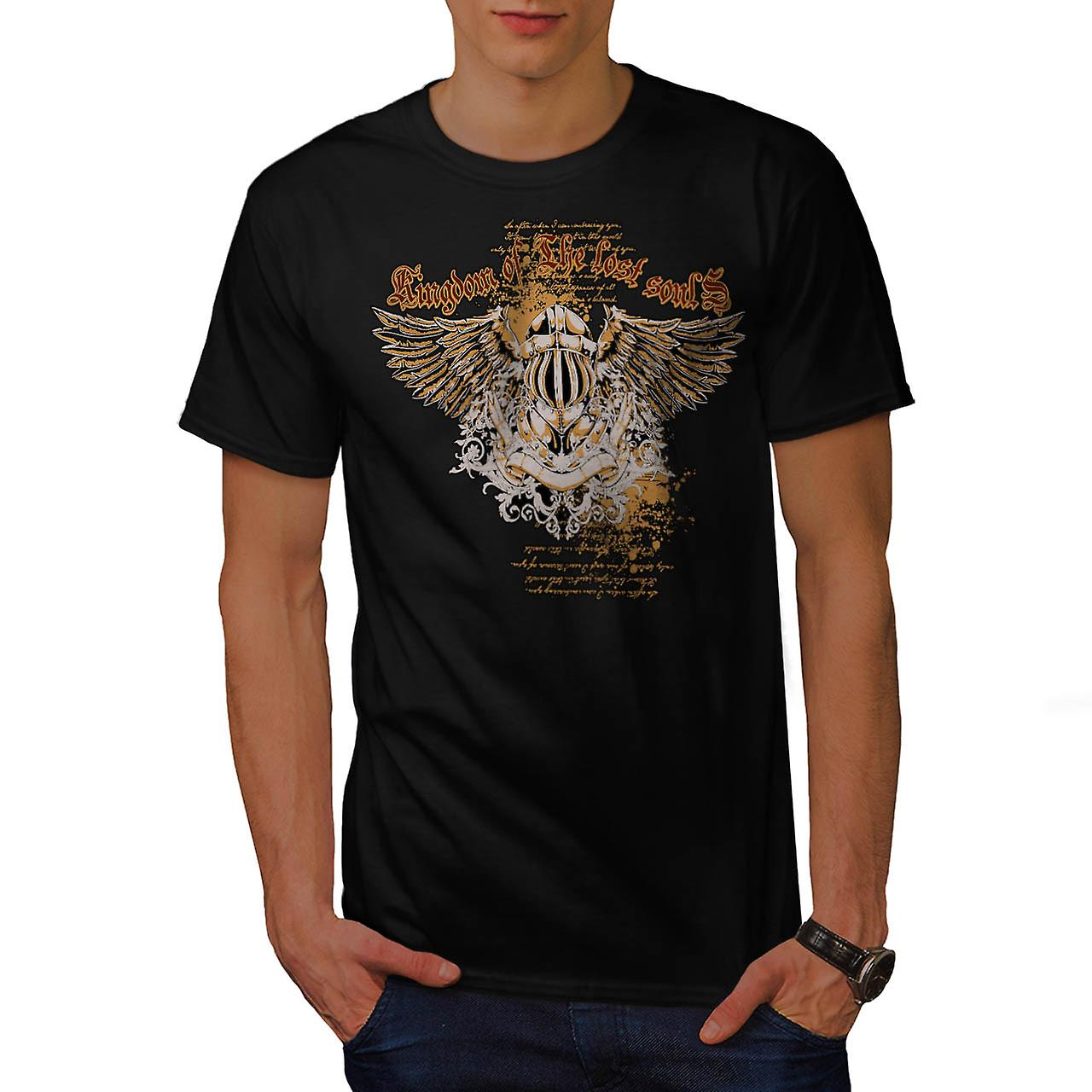 Kingdom Lost Soul Fashion Men Black T-shirt | Wellcoda