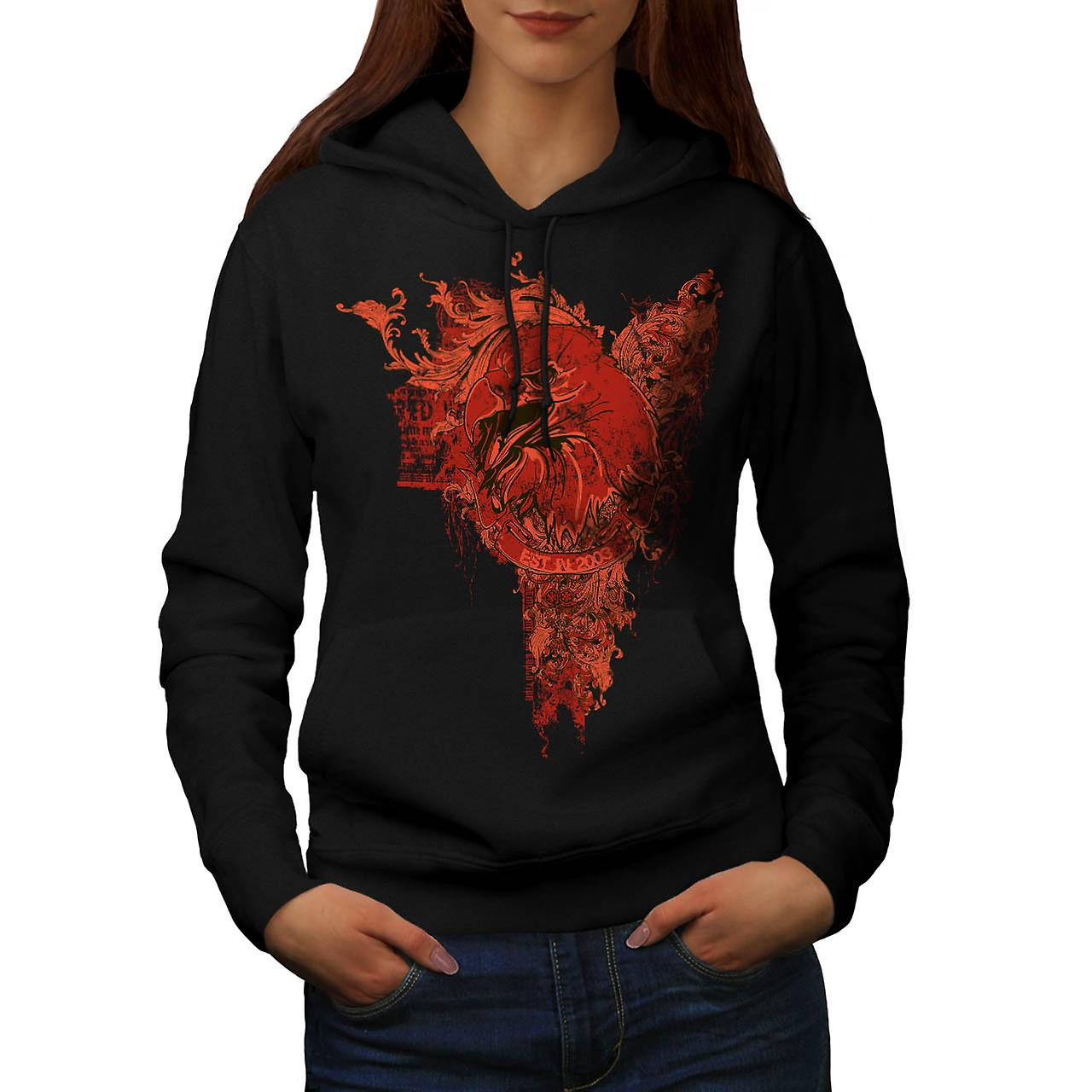 Evil Bird Prey Chill Eagle Death Women Black Hoodie | Wellcoda