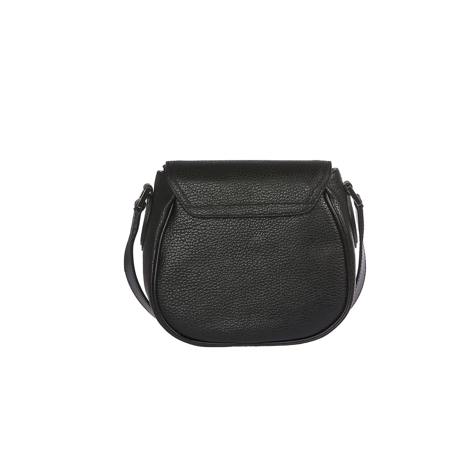 Trussardi Woman's shoulder bag 100% genuine leather Smooth Calf and Dollar-19x16, 5 x 10 cm