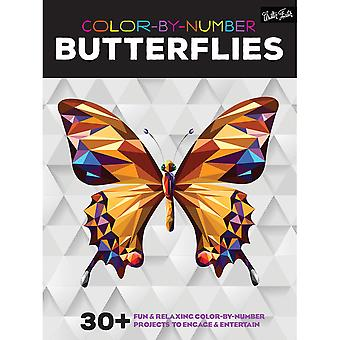Walter Foster Creative Books-Color By Number - Butterflies WFC-22038