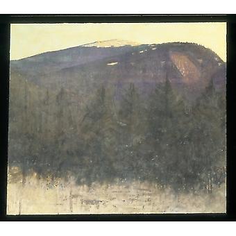 Winter Sunrise Monadnock Poster Print by Abbott H Thayer (Amerikaanse Boston Massachusetts 1849