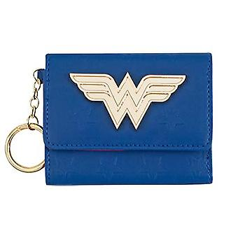 Wonder Woman Mini blu Trifold Wallet