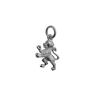 Silver 15x12mm Rampant Lion Pendant or Charm