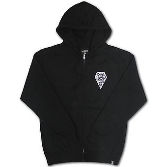 Rebel8 Descanso Eterno Zip Up Hoodie Black