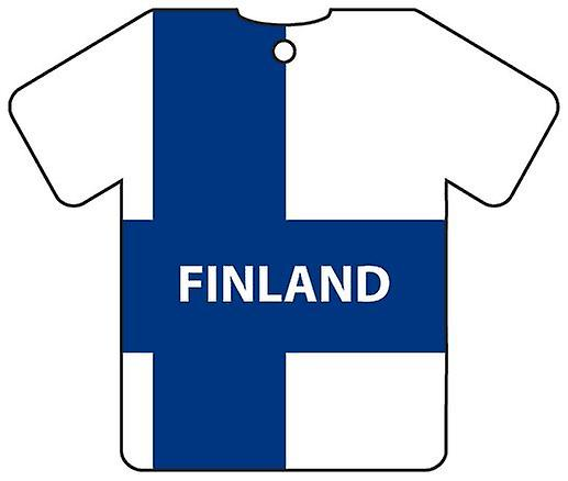 Personalised Finland Flag Jersey Car Air Freshener