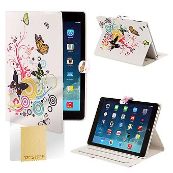 Design Book Angle Stand Folio Case for Apple iPad Mini 4 (4th Gen) - Colour Butterfly