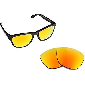New SEEK Replacement Lenses for Oakley FROGSKINS Yellow Purple Mirror