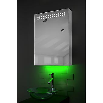 Ambient Mirror Cabinet With Sensor & Internal Shaver Socket k263