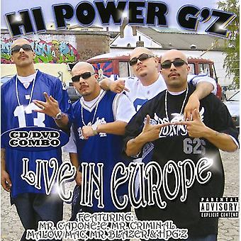 Hej magt G Live i Europa - Hi Power G Live i Europa [CD] USA importerer