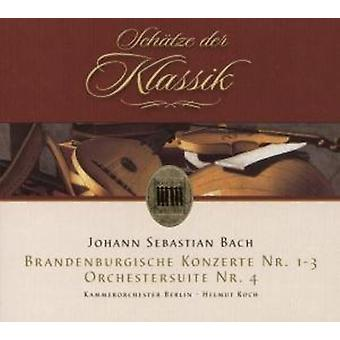 J.S. Bach - Johann Sebastian Bach: Brandenburgische Konzerte Nr. 1-3; Orchestersuite Nr. 4 importar de Estados Unidos [CD]