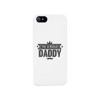 وأنا حالة هاتف أبيض الأب فخور