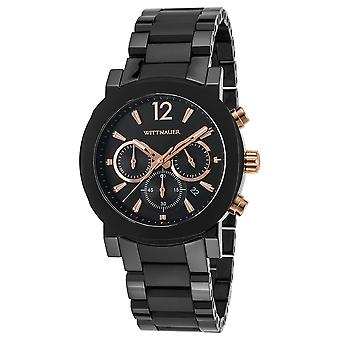 Wittnauer Aiden Chronograph Black Stainless Steel Mens Watch WN3011