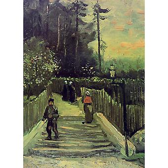 Vincent Van Gogh - Sloping Path in Montmartre, 1886 Poster Print Giclee