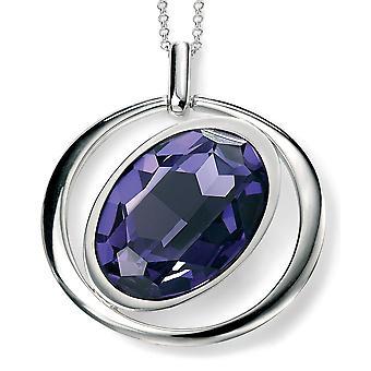 925 Silver Swarovski Crystal Color Tanzanit Necklace Trend