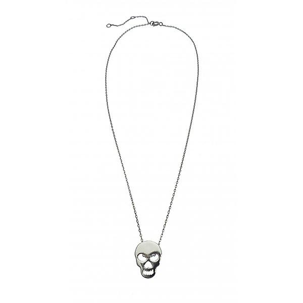 W.A.T 925 Sterling Silver Skull Shaped Pendant