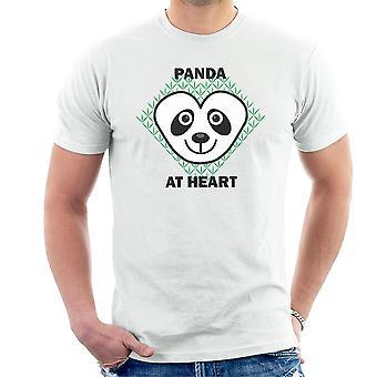 Panda på hjärtat herr T-Shirt