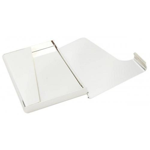 KJ Beckett Plain / Curved Silver Plated Business Card Holder