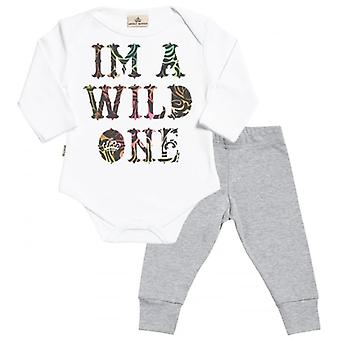 Spoilt Rotten I'm A Wild One Babygrow & Baby Jersey Trousers Outfit Set