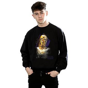 Star Wars Men's The Last Jedi C-3PO Brushed Sweatshirt