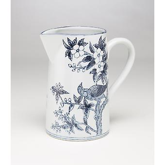 AA Importing 59833 Blue And White Pitcher