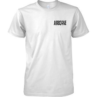 Airborne - testo - petto Design t-shirt