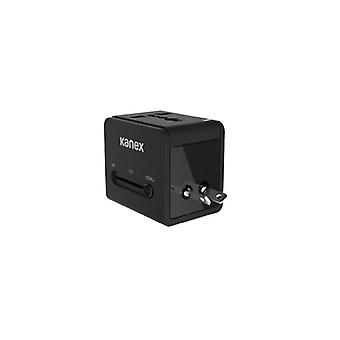 Kanex 4-in-1 Power Adapter with 2 x USB (3.1 A), Black