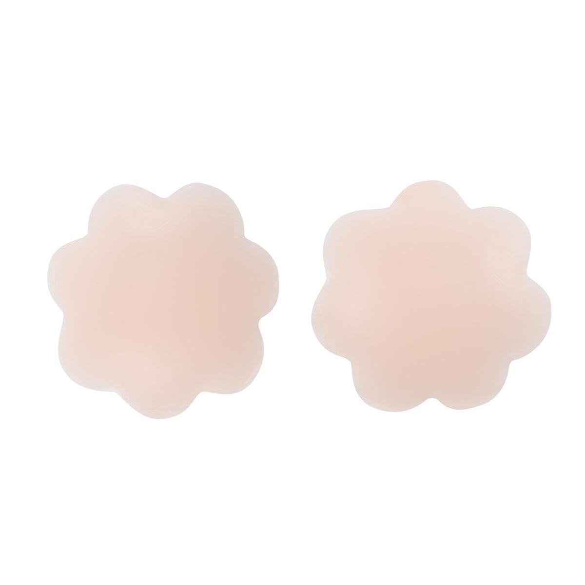 Boolavard® Thin Pasties Reusable Adhesive Silicone Nipple Covers (4 Pcs)…