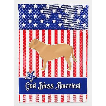USA patriotiska Dogue de Bordeaux flagga Canvas House storlek
