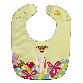 Carolines Treasures  BB6099BIB Easter Eggs Whippet Baby Bib
