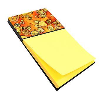 Abstract Flowers in Oranges and Yellows Sticky Note Holder