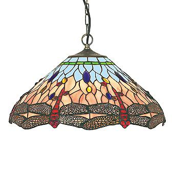 Searchlight 1283-16 Dragonfly Tiffany Ceiling Pendant