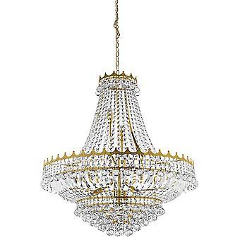 9112-82GO Versailles 13 Light Crystal Chandelier Gold Finish