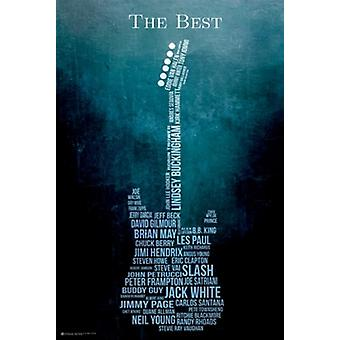 Guitar The Best Poster Poster Print