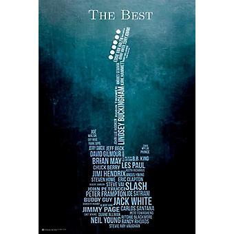 Gitarr i bästa affisch affisch Skriv