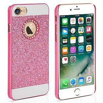 Yousave tilbehør Iphone 7 Flash diamant sag - Pink