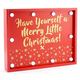 Gainsborough Giftware 'Have Yourself A Merry Little Christmas' LED Lights Sign