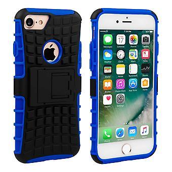 Caseflex Iphone 7 støtteben Combo Cover - blå