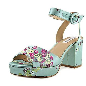 Steve Madden Womens Tickle stof Open teen Casual Slingback sandalen