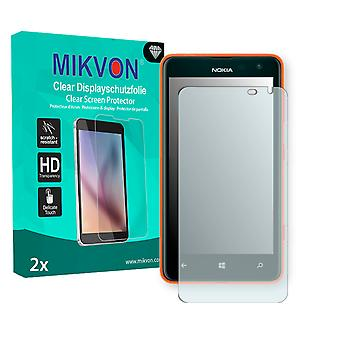 Nokia Lumia 625 LTE Screen Protector - Mikvon Clear (Retail Package with accessories) (intentionally smaller than the display due to its curved surface)