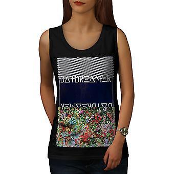 Daydreamer Women BlackTank Top | Wellcoda