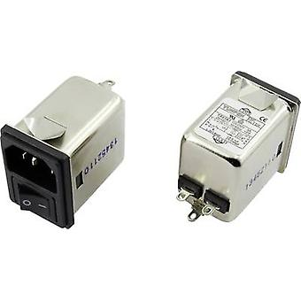 EMI filter + switch, + IEC socket 250 Vac 3 A 1.8 mH