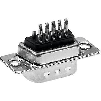 D-SUB pin strip 180 ° Number of pins: 15 Solder bucket Provertha