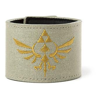 Nintendo Legend of Zelda Skyward Sword Royal Crest Canvas Wristband with Velcro Fastener, Military Green (WB060225NTN)