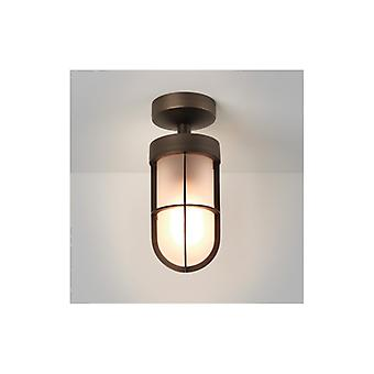 Cabin Bronze Plated Outdoor Frosted Semi Flush - Astro Lighting 7853