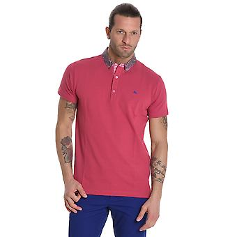 ETRO men's 1Y8018300652 red cotton polo shirt